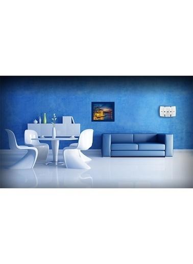 LWP Shop Ortaköy Metal Tablo 53x45 cm Mavi